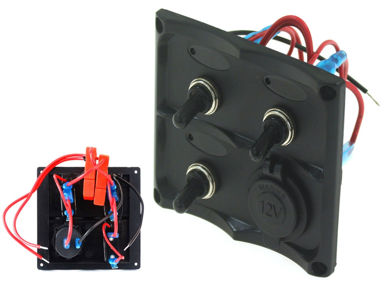 Panel przełączników 12V SPST/ON-OFFx3, 1xGZ, 2B 15A IP68 - GRUBYGARAGE - Sklep Tuningowy